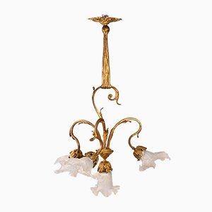 Lámpara de araña Belle Epoque, Francia, finales del siglo XIX