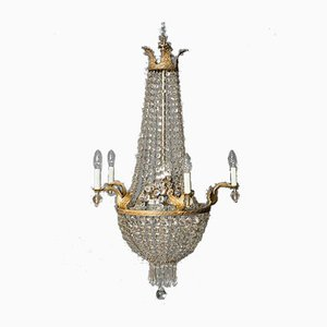 Kristallglas Kronleuchter, Frankreich, 1880er