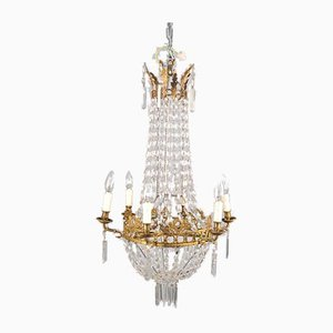 Empire Style Ceiling Chandelier, France, Late 19th Century
