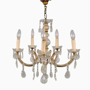 Maria Theresa 5-Light Chandelier with Genuine Crystals, France, 1920s