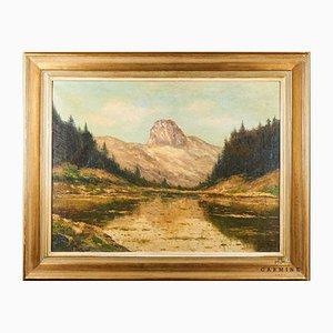 Constant Léon Duval, Oil on Canvas, Framed