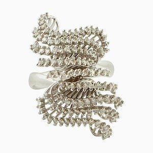 Anello in oro bianco a 18 carati con diamanti bianchi