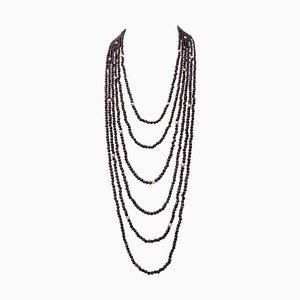 Granat Multi-Strang Halskette