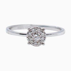 White Diamond & 18 Karat White Gold Magic Ring