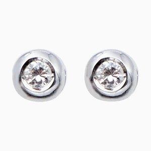 Diamond & 14 Karat White Gold Light Point Earrings, Set of 2