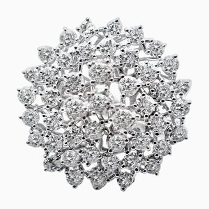 Anello in oro bianco a 18 carati con diamanti da 2,94 carati