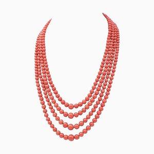 Italienische Korallen Halskette