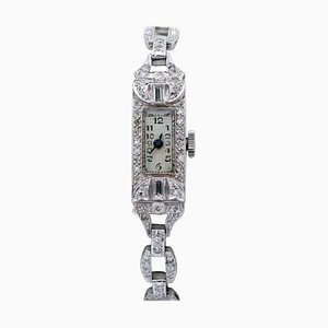 Diamond & Platinum Bracelet or Wristwatch