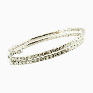Diamond & 18K White Gold Bracelet