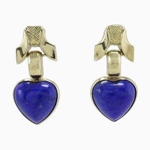 Lapis Lazuli & 18K Gold Stud Earrings, Set of 2