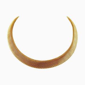 Collana artigianale in oro giallo 18 carati
