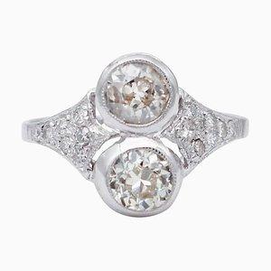 Diamond & 14 Karat White Gold Ring
