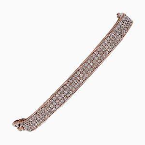 Brazalete de diamantes y oro rosa de 18 kt