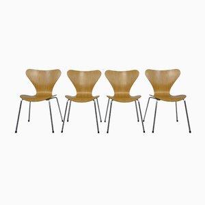 Dänische 3107 Butterfly Stühle von Arne Jacobsen für Fritz Hansen, 1995, 4er Set