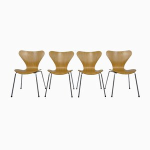 Danish 3107 Butterfly Chairs by Arne Jacobsen for Fritz Hansen, 1995, Set of 4