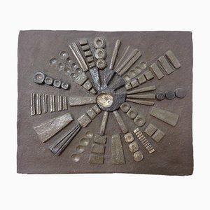 Brutalistische Keramik Wandtafel, 1960er