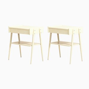 Scandinavian Bedside Tables by AB Carlström & Co Möbelfabrik, Set of 2