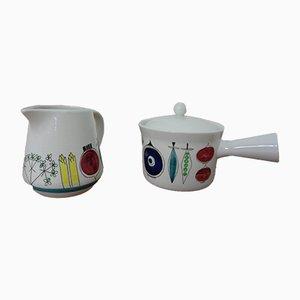 Swedish Picknick Pot & Cannikin by Marianne Westmann for Rörstrand, Set of 2, 1950s
