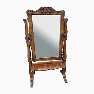 Miroir de Sol Inclinable en Noyer