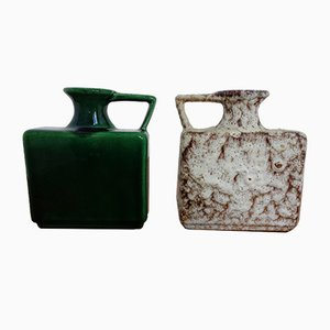 Fat Lava Turin Keramikvasen von Jopeko, 1970er, 2er Set
