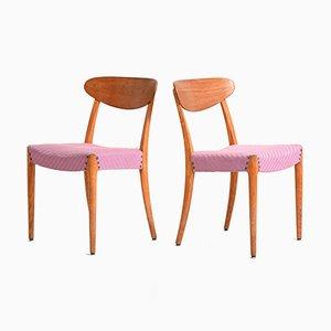 Skandinavische Stühle, 1950er, 2er Set