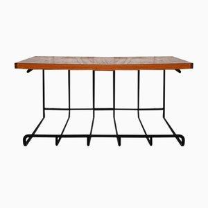 Teak Suspended Bedside Table