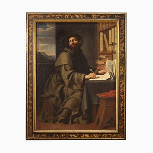 Antikes religiöses Gemälde des Heiligen Bonaventura, 17. Jh
