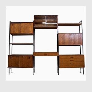 Teak 8-Piece Shelving Unit from Avalon, 1960s, Set of 8