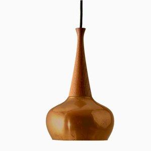 Deckenlampe aus Teak & Kupfer von Lyfa, Dänemark, 1960er
