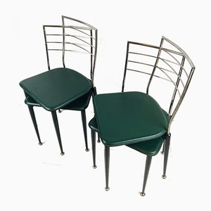 Gio Ponti Style Ladder Back Chairs, Set of 4