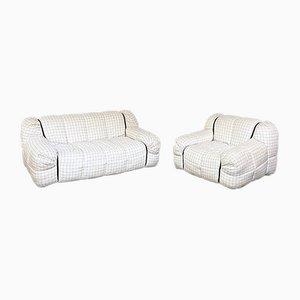 Mid-Century Italian Modern Strips Sofa & Armchair by Cini Boeri for Arflex, 1970s, Set of 2