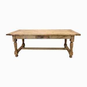 Stripped Oak Farmhouse Refectory Dining Table