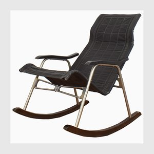 Mid-Century Japanese Rocking Chair by Takeshi Nii, 1950s