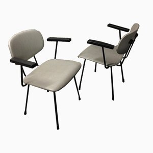 Dutch Birch and Bakelite Industrial Chairs by Wim Rietveld for Gispen, 1950s, Set of 2