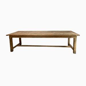 Tavolo da refettorio in legno di quercia massiccio