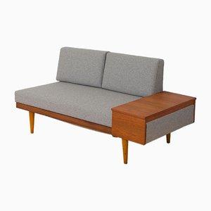 Sofá cama de teca con mesa auxiliar de Ingmar Relling para Svane Ekornes, años 60