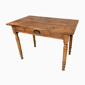Walnut Bistro Table with Turned Legs
