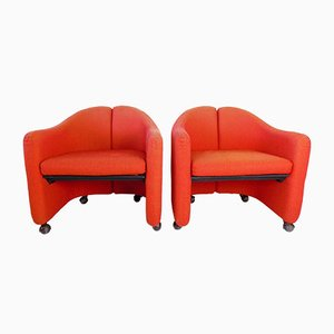 PS142 Lounge Chair Set by Eugenio Gerli for Tecno, Set of 2
