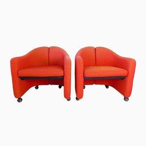 PS142 Sessel Set von Eugenio Gerli für Tecno, 2er Set