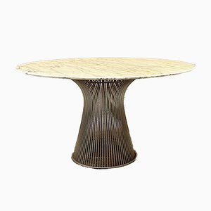 Mid-Century Italian Modern Marble Dining Table by Warren Platner for Knoll, 1970s