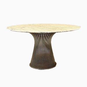 Tavolo da pranzo Mid-Century moderno in marmo di Warren Platner per Knoll, Italia, anni '70