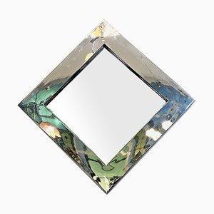 Italienischer Space Age Spiegel mit quadratischem Spiegelrahmen, 1970er