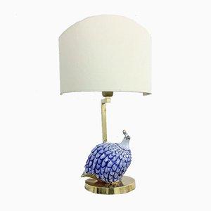 Italienische Tischlampe von Societa Porcellane für Artistiche Perlhuhn, 1980er