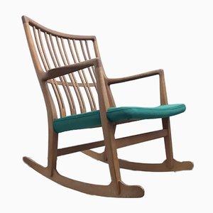 Rocking Chair ML-33 en Chêne par Hans J. Wegner pour A / S Mikael Laursen