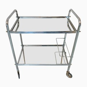 Chrome and Mirrored French Mid-Century Drinks Trolley
