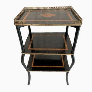 Ebonized Napoleon III Shelves Side Table