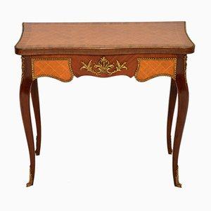 Table à Cartes Antique en Marqueterie, France
