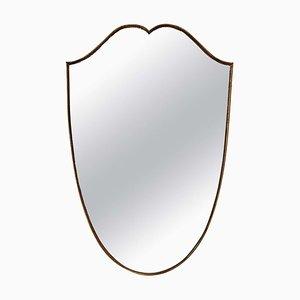 Brass Shield Mirror, 1950s