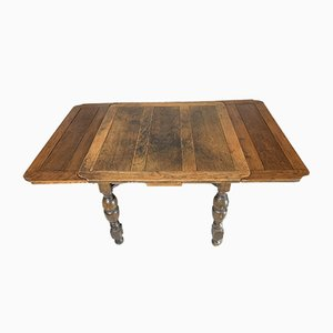 Extendable Oak Turned Leg Games Table