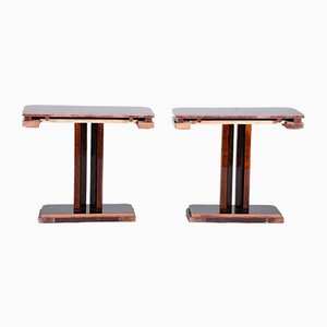 Art Deco French Nightstands in High Gloss, 1920s, Set of 2